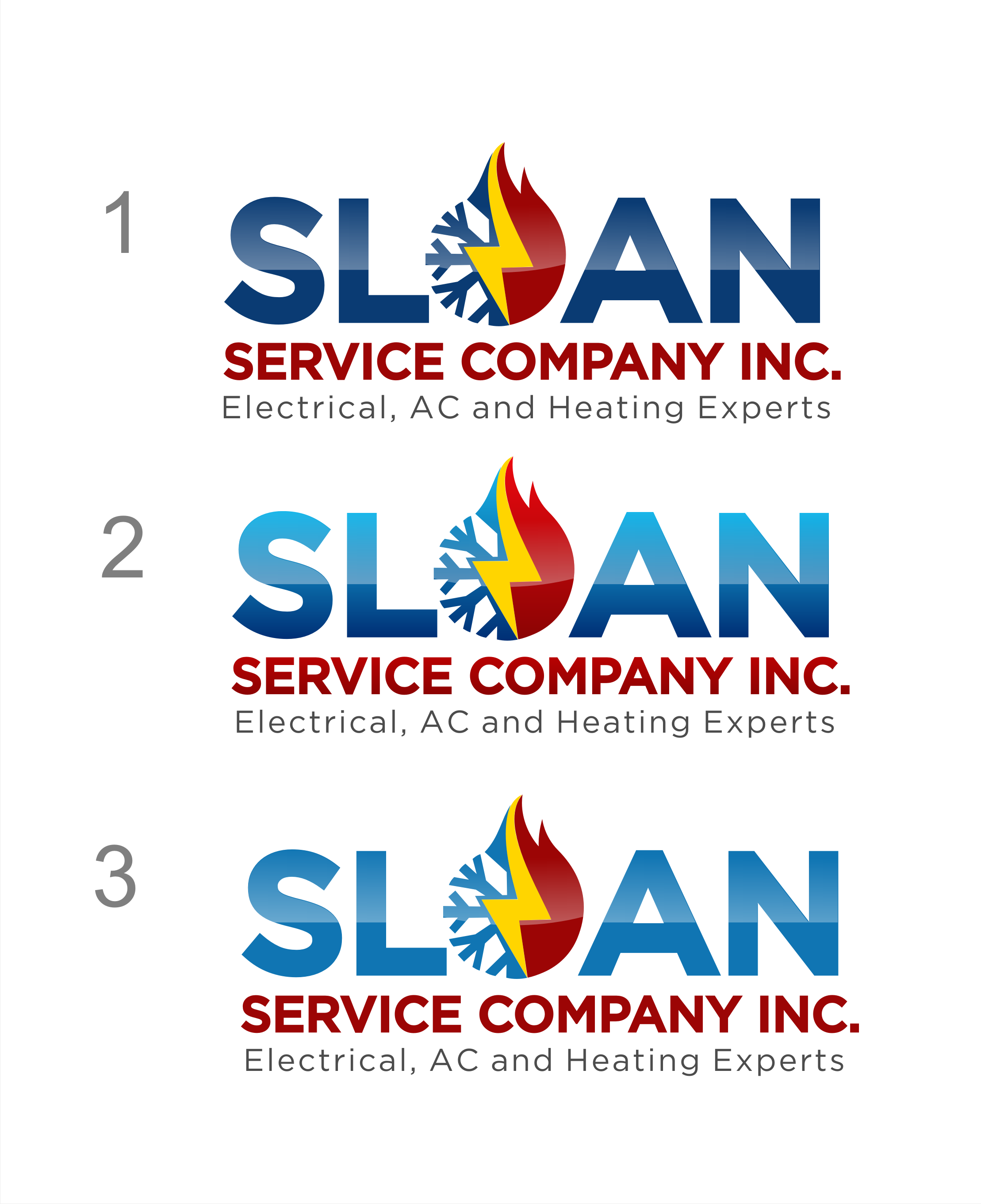 Electrician Re-Branding Project for Sloan Service Company, Inc