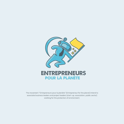 Bold Astronaut Logo for Business Leaders