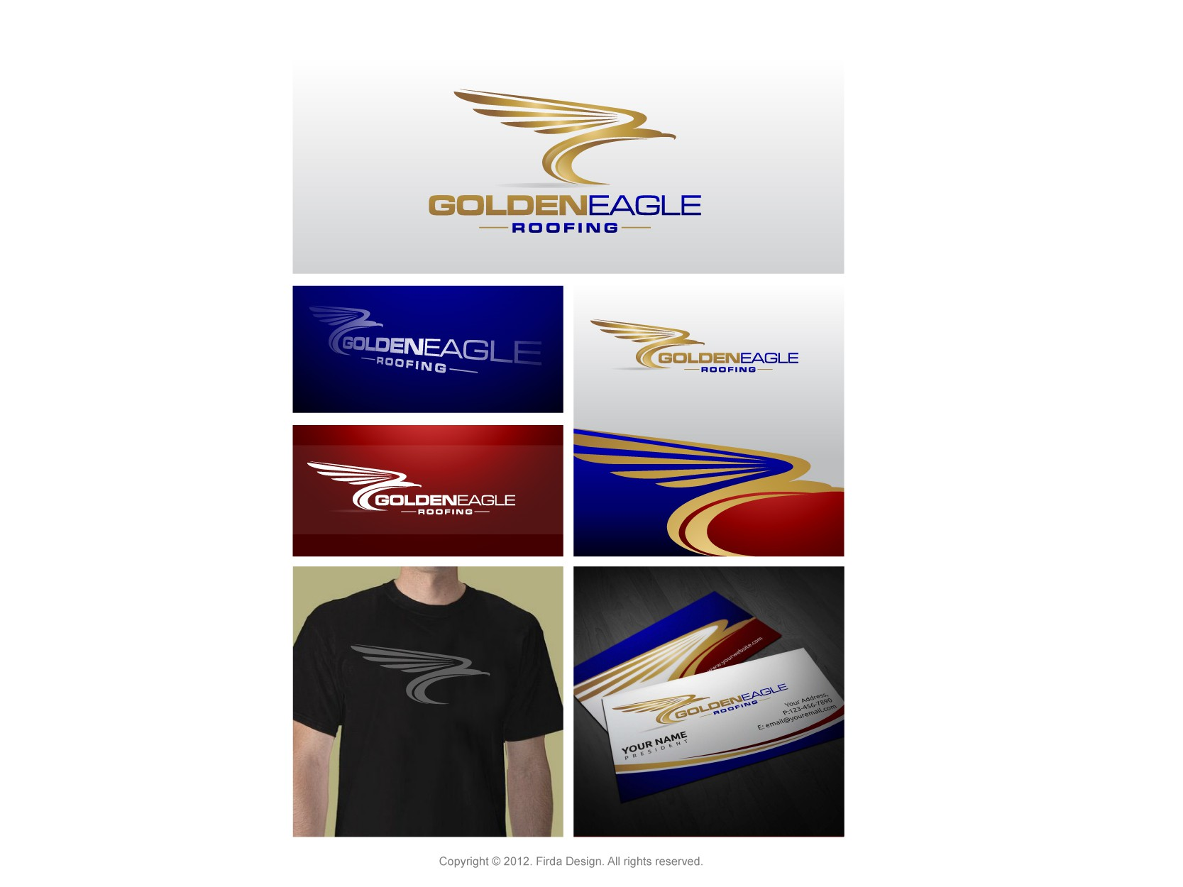 Create the next logo for Golden Eagle Roofing