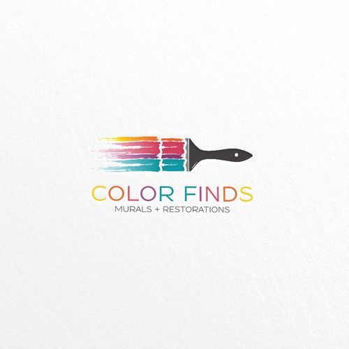 COLOR FINDS - illustrative and colorful logo
