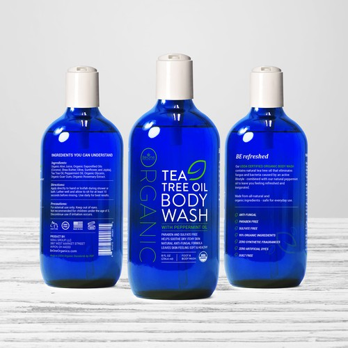 Bottle Label design for Organic Body Wash