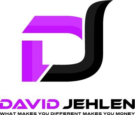 Create an eyeball grabbing logo for David Jehlen
