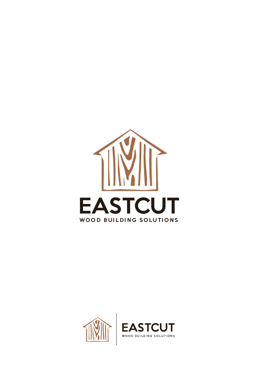 Design a smart logo for a firm that loves wood and technology  and will impact communities