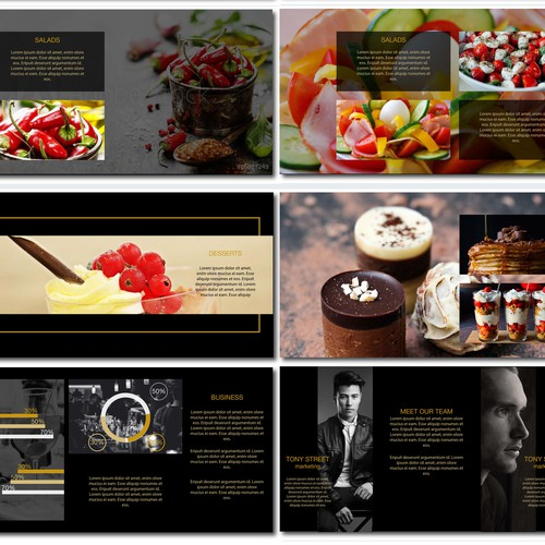 Powerpoint for a restaurant