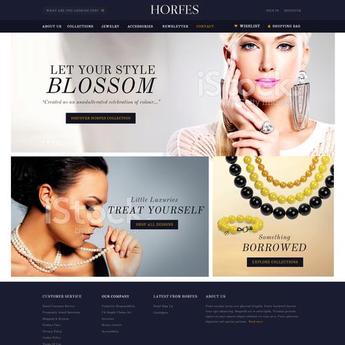 Elegant Jewelry landing page contest