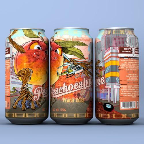 Craft Beer Label Illustration