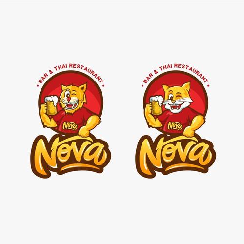 logo concept for Nova bar n thai restaurant
