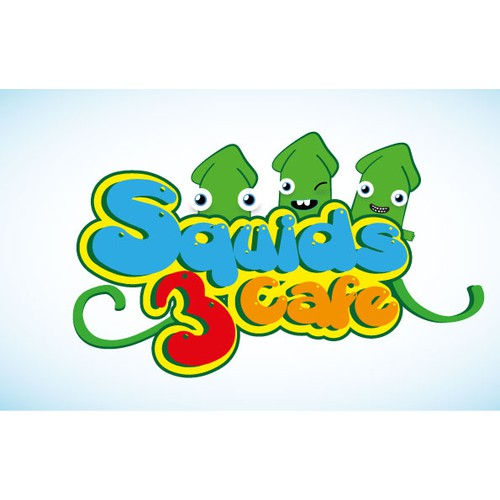 Create the next logo for Three Squids Cafe