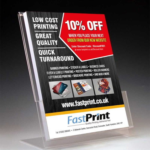 New A5 leaflet for our company!