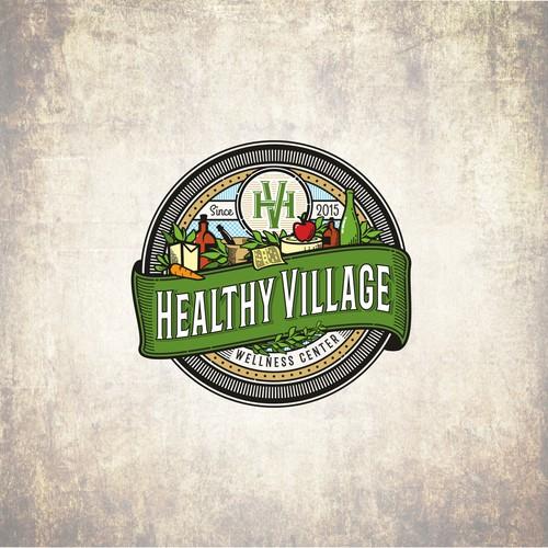vintage logo for Wellness Center
