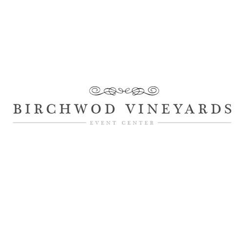 Birchwood Vineyards Logo Design