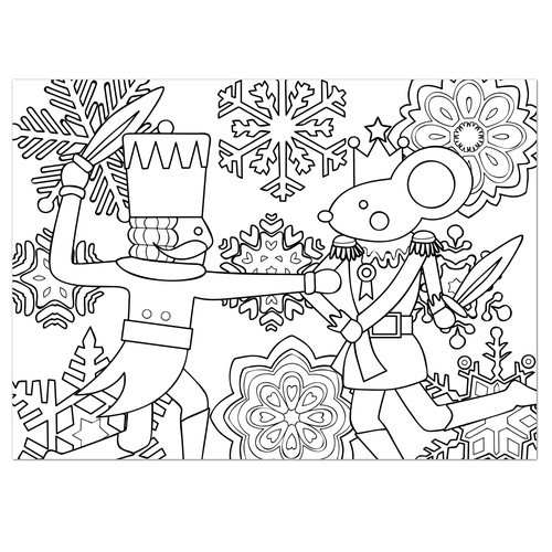 Nutcracker Coloring Greeting Card