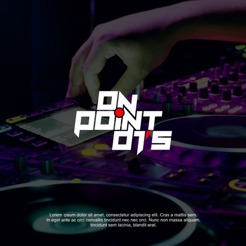 Typography logo design for On Point DJ's