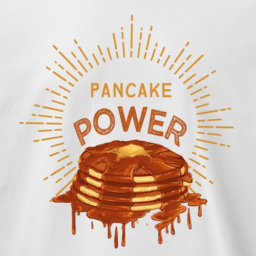 Pancake Power Tshirt Design
