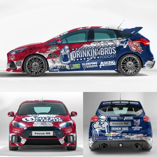 race car wrap design
