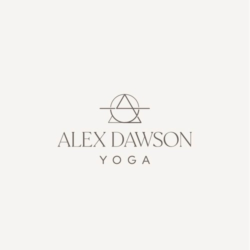 Contemporary spiritual logo for yoga teacher