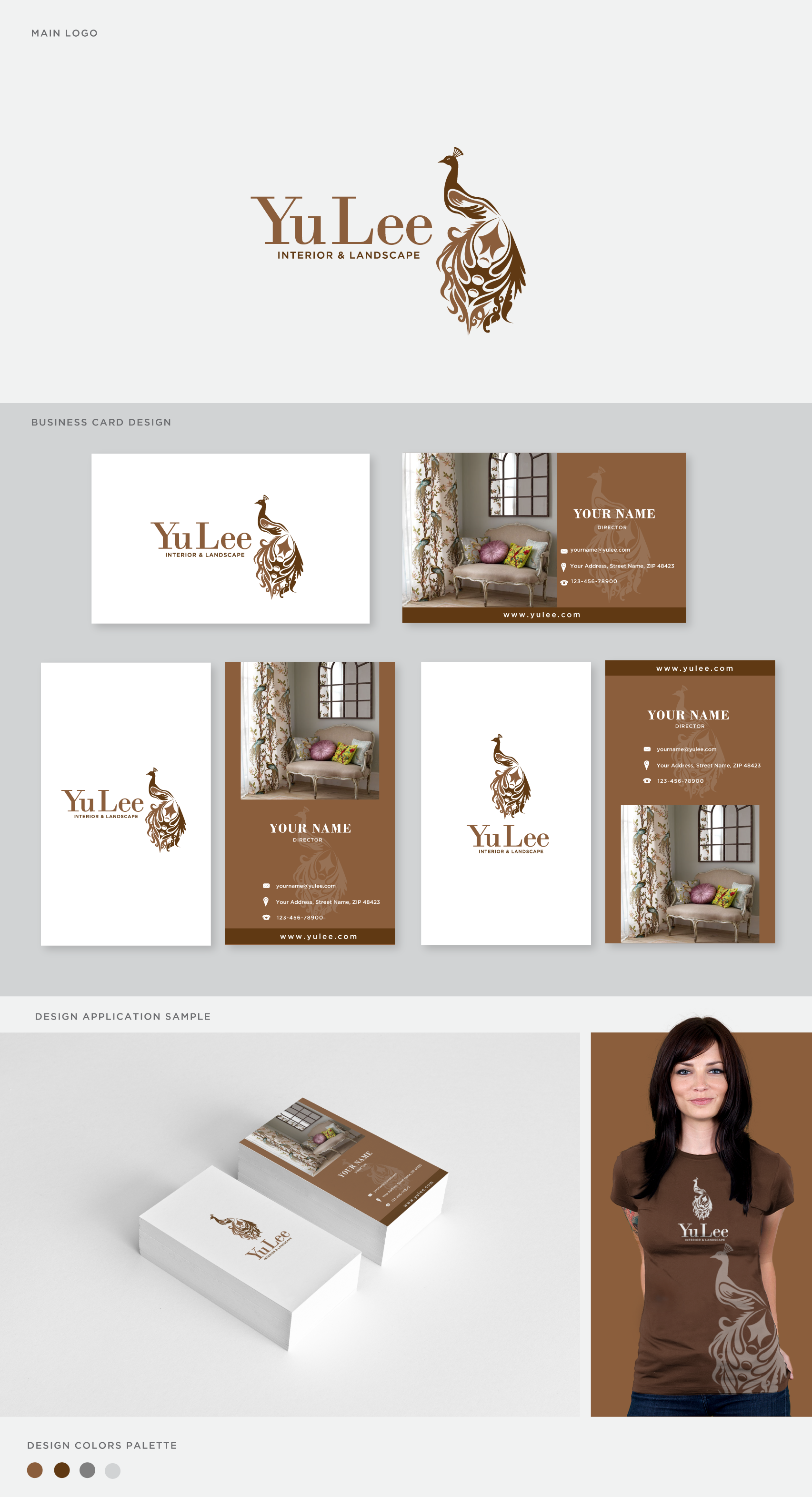 Create a classic&elegant logo for interior and landscape design bussiness