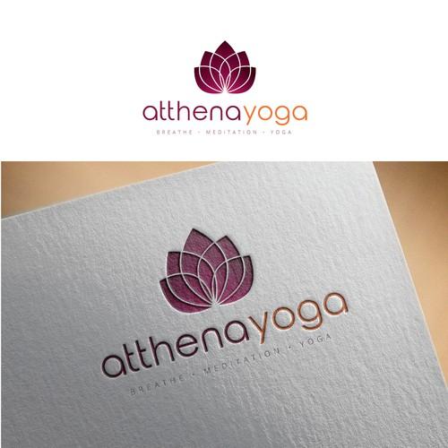 Logo concept for Atthena Yoga