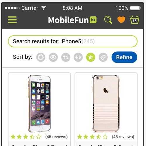 Refined design for shopping app