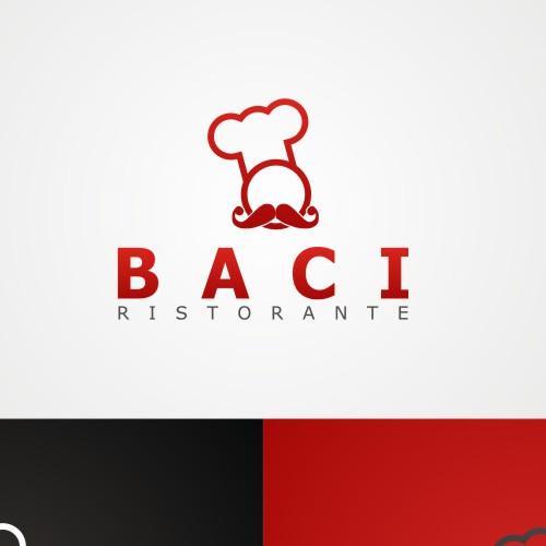 Bold logo design for BACI Ristorante