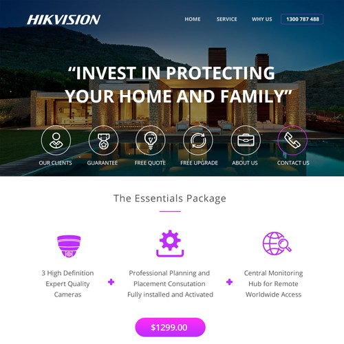 Landing page Hikvision