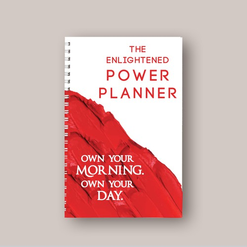 """The Enlightened Power Planner"" Cover Design."