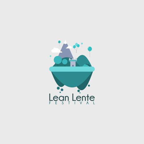 Flat logo for festival
