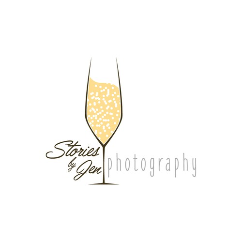 Create a simple yet outstanding logo for creative wedding photographer