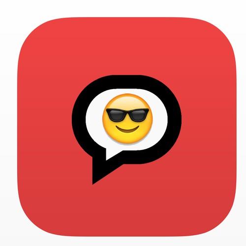 App icon for 'Big Emoji Keyboard'. Blind & Guaranteed.