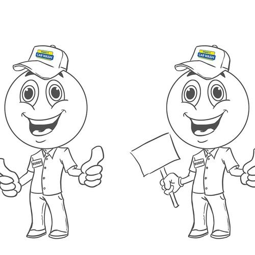 Carwash Mascot design concepts