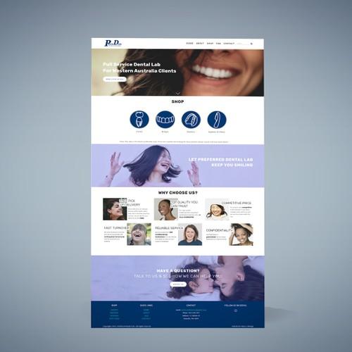Squarespace Website for Dental Equipment Shop