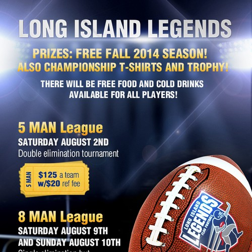 Summer Flag Football Tournament - Flyer