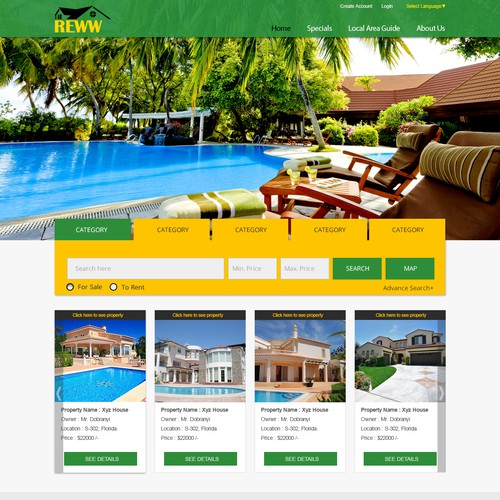 Real Estate Template Designq