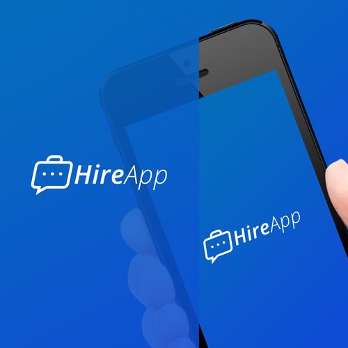 HireApp Logo  Design