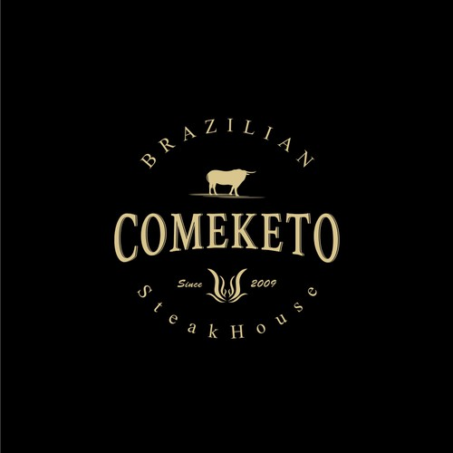 Logo design concept for Comeketo - Brazilian Steakhouse
