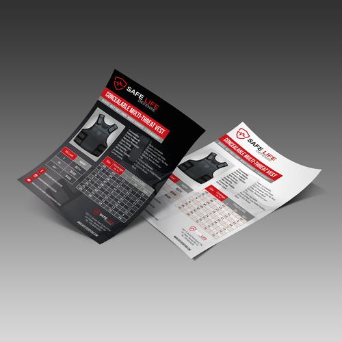 Sales/Spec Sheet for Safe Life Defense Body Armor