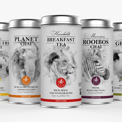 Tinned Craft Tea Packaging Design