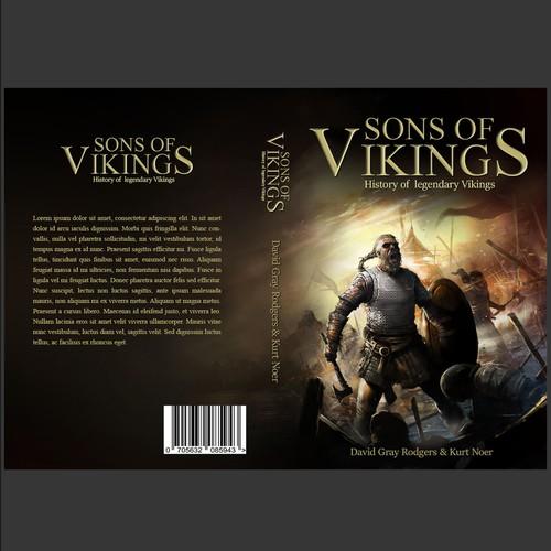 An  Illustration cover design for Sons of Vikings