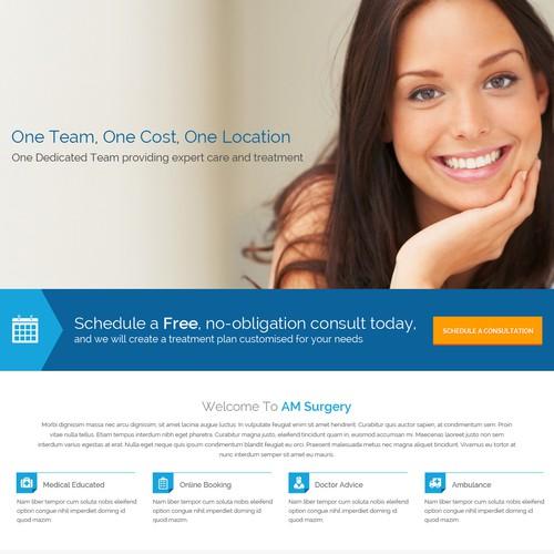 AM Surgery Website Design