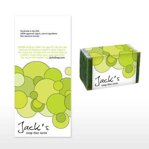 Jack's Soap needs a new print or packaging design