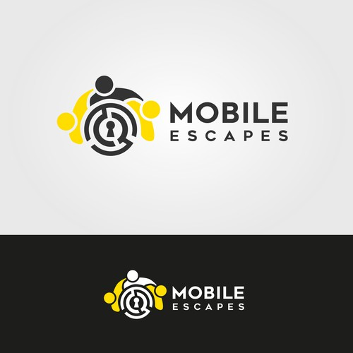 Logo for a company that builds mobile escape houses.