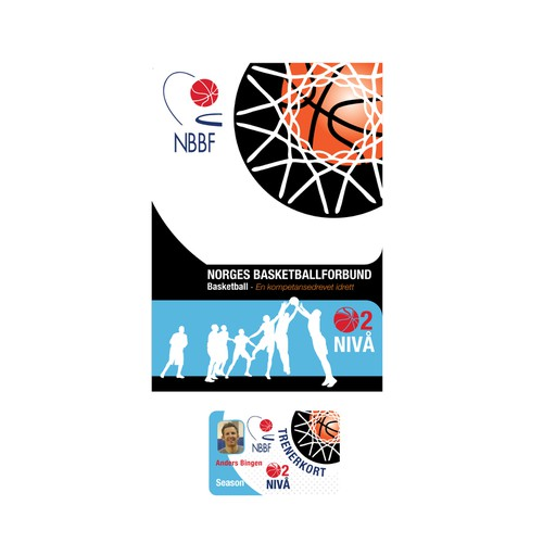 Create title page designs for basketball training