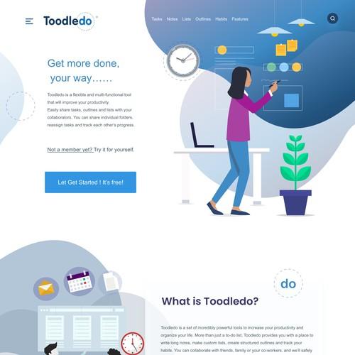 Toodoo landing page