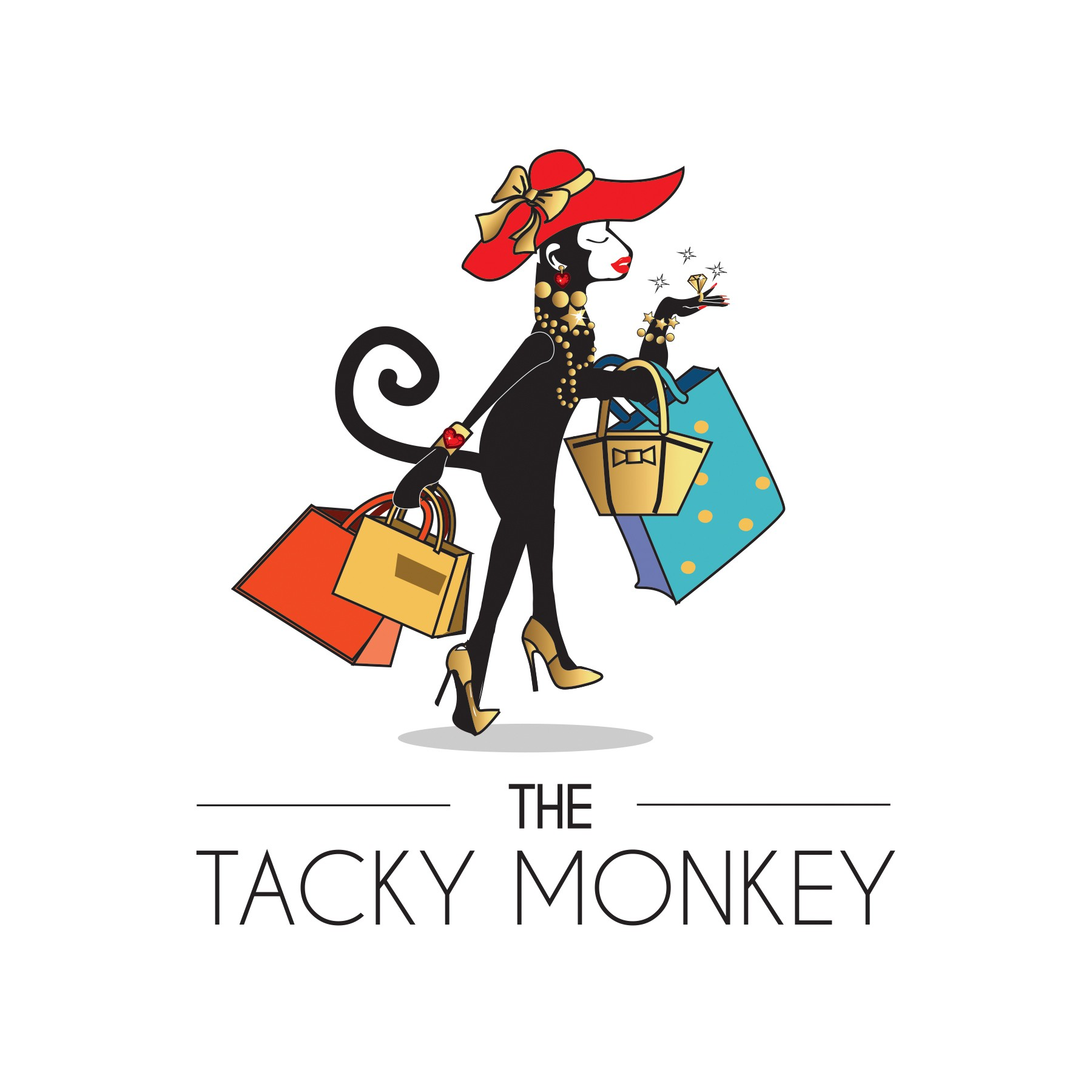 Embrace the Bling! The Tacky Monkey goes shopping!
