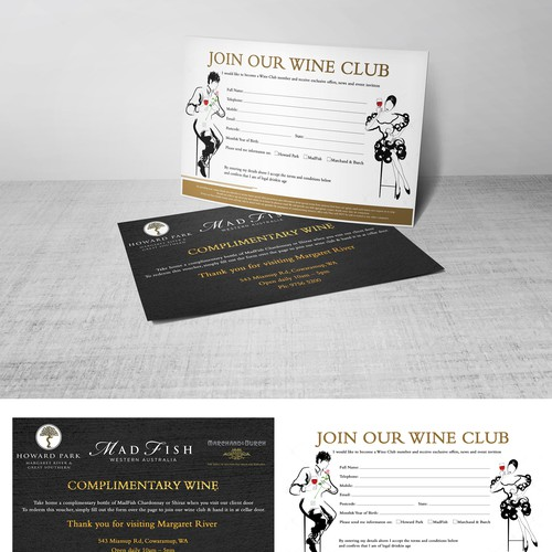 Flyer for a wine club
