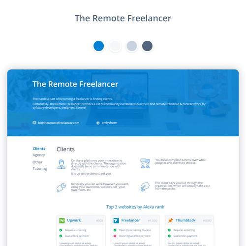 Simple clean webpage