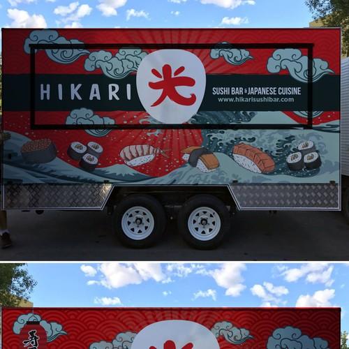 Hikari japanese sushi food truck