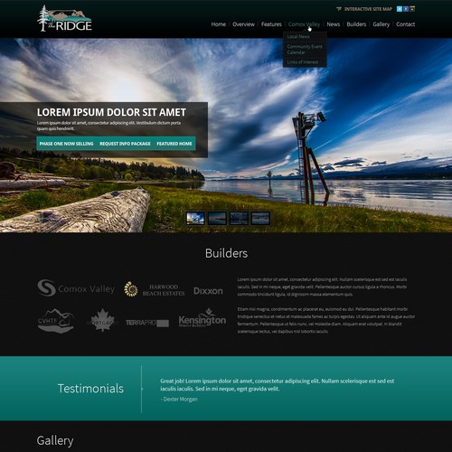 The Ridge needs a new website design