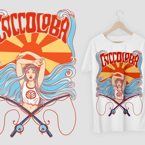 Retro Sea Goddess design v.1 for Coccoloba