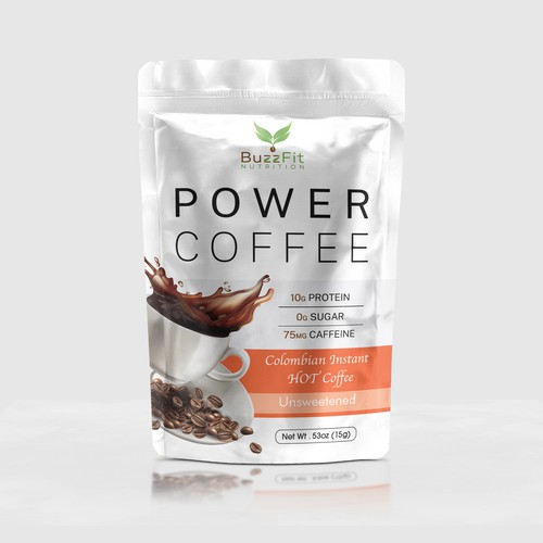 Power Coffee packaging alteration
